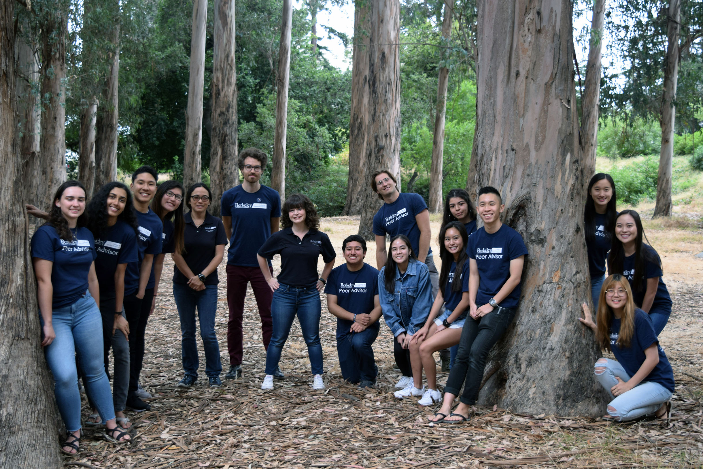 CNR students in the campus eucalyptus grove