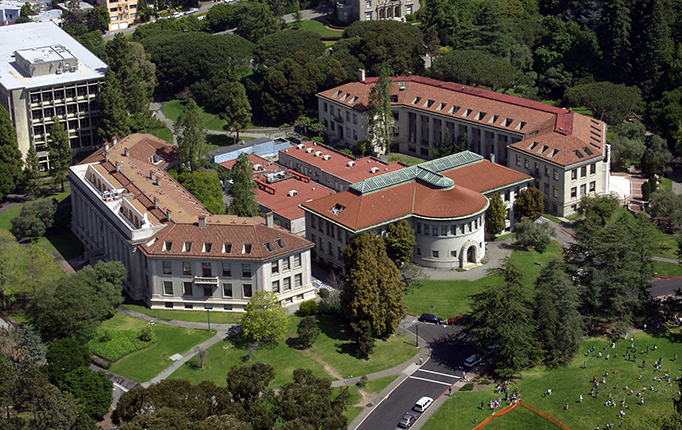 Arial photo of Wellman Hall